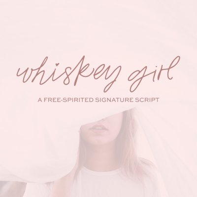 Whiskey Girl Signature Script Font