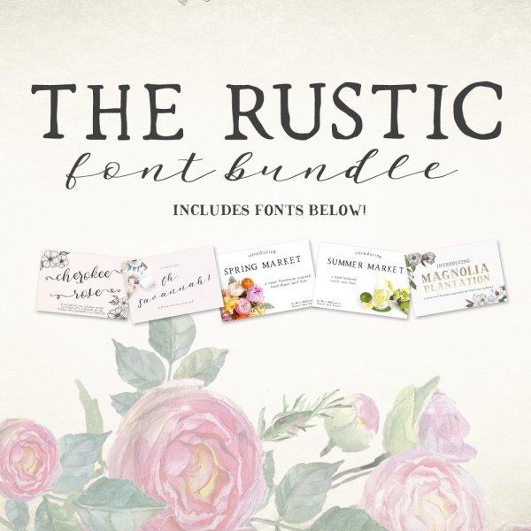 save big on The Rustic Font Bundle