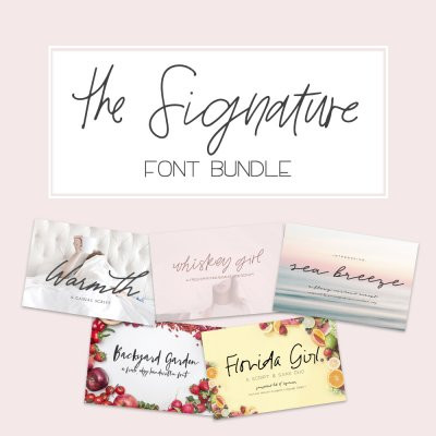 save on The Signature Font Bundle