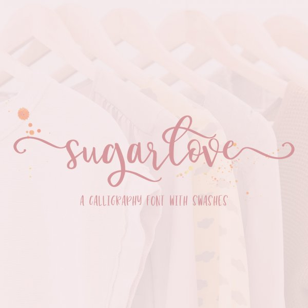 Sugarlove Calligraphy Font with Swashes