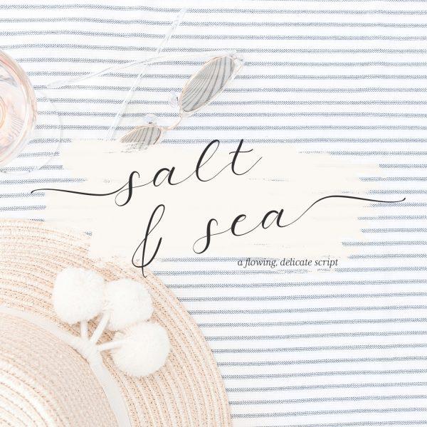 calligraphy font Salt and Sea