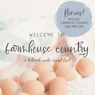 Farmhouse Country rustic script