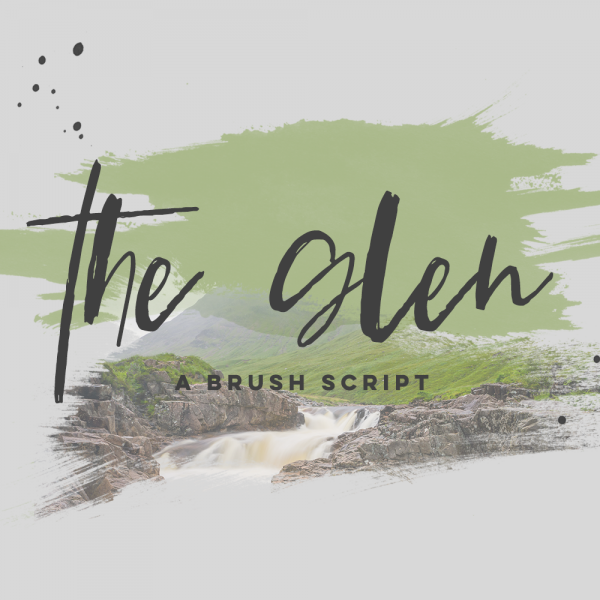 brush script font The Glen